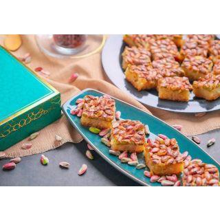1 TAIBEH Harissa pistachio 1000G   هريسة طيبة النبك بالفستق و السمن العربي